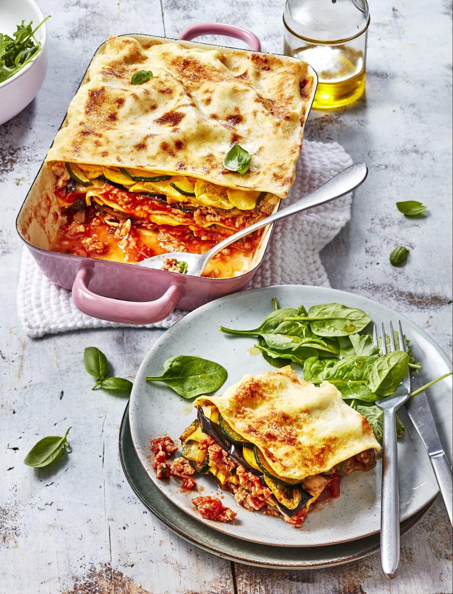 recette lasagne de haché de poulet à la provençale